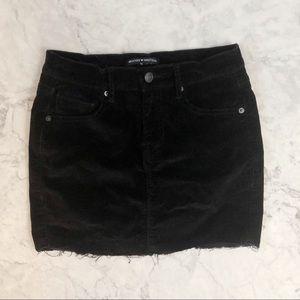 Brandy Melville corduroy black skirt